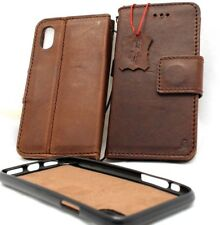 Genuine Leather Case for iPhone XS Wallet Handmade Cover Magnetic Luxury Holder