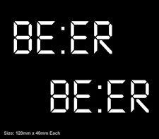 2x BEER Oclock MEME Vinyl Decal Sticker VB XXXX Craft Tooheys Hahn Straya Smoko