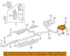 HONDA OEM 17-18 CR-V 1.5L-L4-Exhaust Muffler-Rear 18305TLAA54