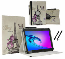 "Schutzhülle für Jay-tech TXTE10D 3G Tablet Case 10.1"" 360 Paris Blumen"