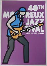 Julian Opie: Siebdruck Serigraphie Plakat Poster Montreux Jazz Festival 2006