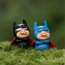 Cute 2Pcs/Set Pigman Hero Miniature Micro Landscape Home Garden Crafts Figurines