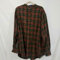 Britches Great outdoor Flannel 100% cotton  Men's Long Sleeve Plaid Shirt XL
