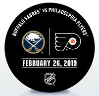 Philadelphia Flyers Issued Unused Warm Up Puck 2/26/19 Vs Buffalo Sabres