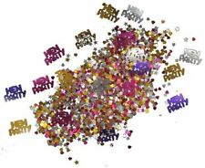 Hen Party Sprinkles Confetti Table Decoration Pink Silver Gold Purple Star Heart