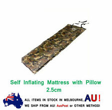 Self Inflating Mattress Camping Hiking Airbed Mat Sleeping w/ Pillow Bag 2.5cm