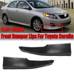 Front Bumper Lip Body Kit Splitter Spoiler S Style For Toyota Corolla 2009-2010