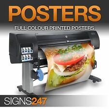 POSTER PRINTING Gloss Satin or Matt Paper Finish Print A0 A1 A2 A3 A4 posters