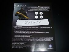 Rainbow Six 6 Siege DLC Download Code PS4 Playstation 4 - Gold Weapons Skin Pack