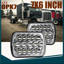 2P 7x6 LED Headlight Hi/Lo Beam For International Harvester 4700 4800 4900 8100