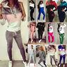 Women 2Pcs Hoodie Tracksuit Hooded Sweatshirt Pants Set Sports Casual Sweat Suit