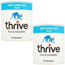 2 x thrive Cat 100% White Fish Treats MaxiTube, 110g - Real Natural Freeze Dried