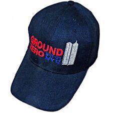 Ground Zero 911 NYC Twin Towers 9/11 City of New York Navy Blue Baseball Hat Cap