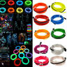 Flexible Neon LED Light Glow EL Wire String Strip Rope Tube Car Wedding Party