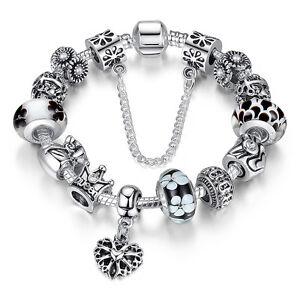 new DIY 925 Silver Fashion DIY European Beads LADY women bracelet pretty