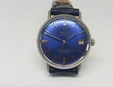 USED VINTAGE 60'S OMEGA DE VILLE BLUE DIAL DATE  AUTOMATIC MAN'S WATCH