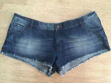 Next Denim Shorts 22 Hotpants Summer Holiday Ripped Frayed Look Vgc