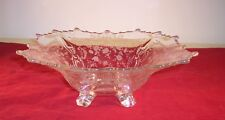 Cambridge Glass - 12 Inch, 4 Toed Flared Bowl With Chantilly Etch Pattern