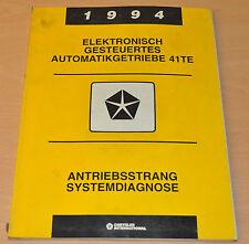 Werkstatthandbuch Chrysler 1994  Elektronisch gesteuertes Automatikgetriebe 41TE