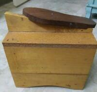 Vintage Rustic Primitive Wood Homemade Shoeshine Box Stand FARMHOUSE DECOR
