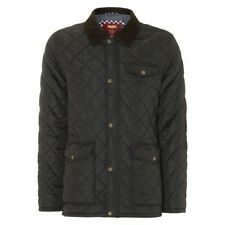 Hip Length Nylon Button Quilted Coats & Jackets for Men
