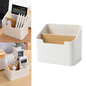 Desk Remote Control Holder Storage Container Home Office Stationery Organizer