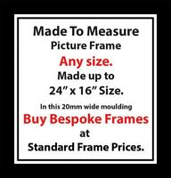 Made to measure Picture Photos Artwork Frames Any size up to A2 20 mm Moulding