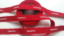 Chanel Holiday 2018 Red-White gift wrap ribbon 6.3m X 15mm Limited Edition