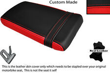 BLACK & RED CUSTOM FITS HONDA VTR RVT 1000 RC51 SP1 REAR LEATHER SEAT COVER