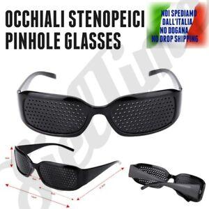 OCCHIALI A FORI STENOPEICI PINHOLE GLASSES MIGLIORAMENTO VISTA METODO BATES