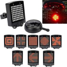 Rechargeable LED Tail Light Turn Signal Rear Lamp Brake Bike Bicycle Remote Tip