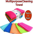 5 x MULTIPURPOSE CLEANING CLOTS /HOME CLEANING,CAR POLISH & VALET TOWEL CLOTHS