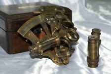 Sestante nautico J. Scott London 1753 con due oculari e box in legno navigazione