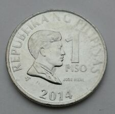 Philippines 1 Piso 2014. One Dollar Coin. Peso.