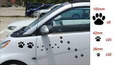 Set of 58x Cat Dog PAW PRINTS paws vinyl decals stickers car vehicle decoration