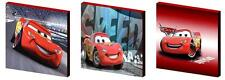 LIGHTENING MCQUEEN - CANVAS ART BLOCKS/ WALL ART PLAQUES/PICTURES