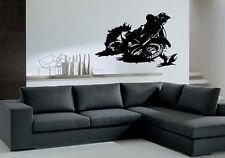 Motorcycle Racer Dirt Bike Motor Sport Decor Wall Mural Vinyl Decal Sticker M416