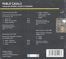 Pablo  ( Pau ) Casals - Dvorak  Elgar Schumann CD NEW / SEALED