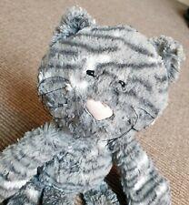 "Jellycat Medium Merryday Grey Longlimbed Cat Soft Toy Blankie Comforter 16"""