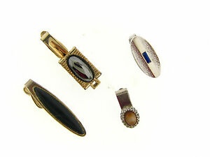 Vintage Mens Mixed Silver Gold Plated Stylish Mix Stone Tie Bar Accessory Lot