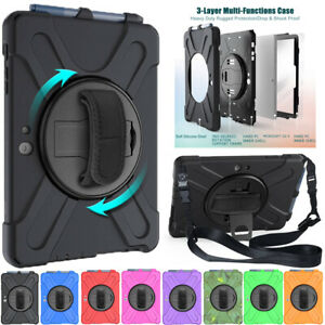 """For Microsoft Surface Go 2 3 10.5"""" 10"""" Shockproof Rotate Stand Case Cover Strap"""