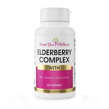 Elderberry Complex w Zinc Vitamin C Immune Support Chewable for Kids Adults