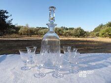 Service à liqueur Carafe + 8 Verres cristal taillé gravé Villeroy & Boch. SAAR