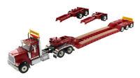 INTERNATIONAL HX520 RED XL 120 LOWBOY TRAILER 1/50 DIECAST MASTERS 71016
