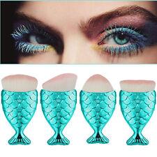 A Set Fish Scale Makeup Brush Fishtail  Brush Powder Blush Makeup Cosmetic Brush