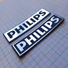 PHILIPS - Case Badge Sticker Set - two pieces - Aluminum