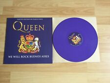 "TOP QUEEN WE WILL ROCK BUENOS AIRES LIMITED 12 "" LP LILA VINYL SCHALLPLATTE"