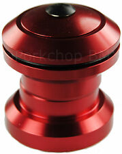"""Aluminum alloy BMX or MTB bicycle headset 1 1/8"""" threadless - RED ANODIZED"""