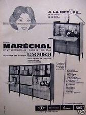 PUBLICITÉ 1960 VICTOR MARÉCHAL MEUBLES MOBILOR TV STEINER SARCO - ADVERTISING