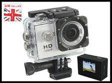 Waterproof Sports Action HD Cam Camera 1080P + LCD Screen + Wide Angle Lens
